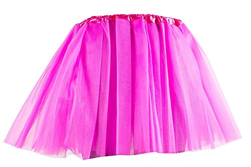 Damen Tütü Tutu Minirock Petticoat Tanzkleid Ballettrock Pettiskirt Unterrock in verschiedenen Farben (Pink)