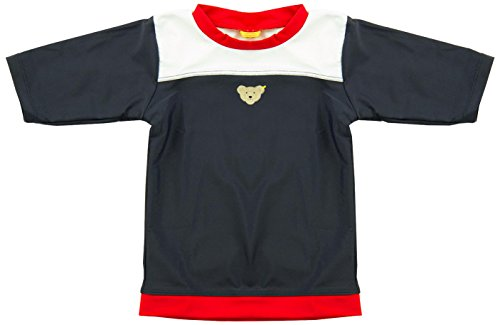 Steiff Baby - Jungen Badehose T-shirt 1/2 Arm, Mehrfarbig, Gr. 80, Blau (Steiff marine|blue 3032)