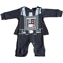 Traje infantil inspirado en Darth Vader. 0-6 meses