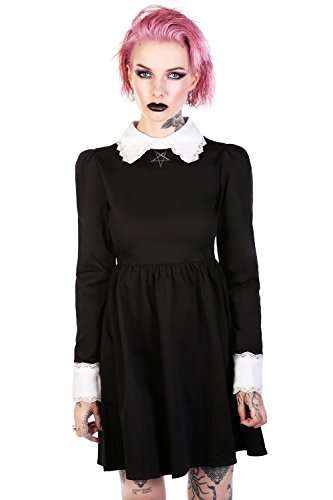 Disturbia Clothing -  Vestito  - Basic - Maniche lunghe  - Donna nero M