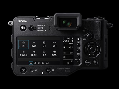 Sigma sd Quattro H spiegellose Systemkamera (45 Megapixel, 7,6 cm (3 Zoll) Display, SD-Kartenslot, SDHC-Kartenslot, SDXC-Kartenslot, Eye-Fi-Kartenslot) schwarz - 6