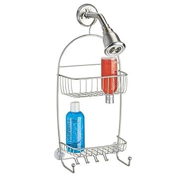 mdesign duschablage edelstahl duschregal ohne bohren montieren duschkorb zum hngen satinierte und rostfreie oberflche fr duschzubehr jeder art - Duschzubehor Zum Hangen