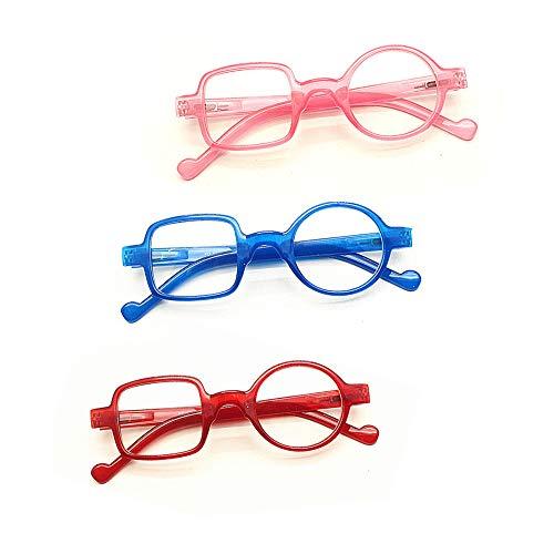 Frauen Männer Lesebrille Presbyopie Brillen Wert 3 Pack Älteren Brillen Persönlichkeit Mode Kunststoff Lesegeräte Überraschende Design Anti-Müdigkeit Anti Smudgy Schlaf Besser,B,1.5