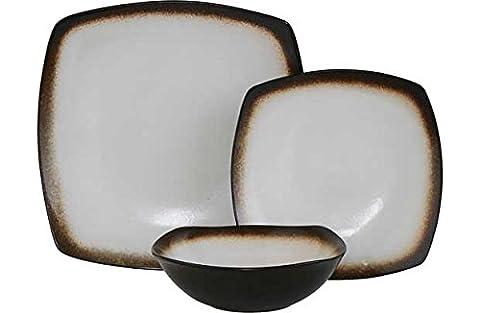 Cœur de Maison réactive Glaze de table 12pièces.