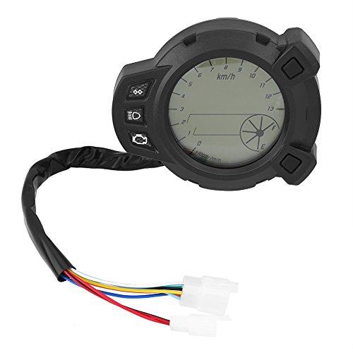 Qiilu Motorrad Instrumente LCD Tacho Kilometerzähler Tachometer für Yamaha BMS125 7 Farbe Meter