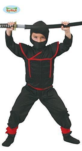 Ninja Samurai Krieger - Kostüm für Kinder Gr. 110 - 146, Größe:128/134 (Kämpfer Mädchen Kostüm)