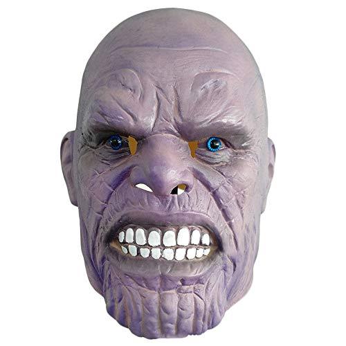 rvels Cosplay Latex Kopfbedeckungen The Avengers Maske Kopf Cosplay Halloween Thema Party Maskerade Kostüme Requisiten,A-OneSize ()