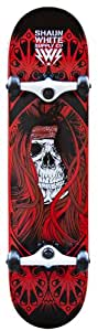 Shaun White Supply Co. Park Skull Complete Skateboard - Red. 32 x 13.5 Inch
