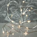arts 20er LED Micro Kette Lichterkette LED mit silbernen Draht (ca. 1,25 Meter) - batteriebetrieben (2xAA) mit 6 Stunden Timer