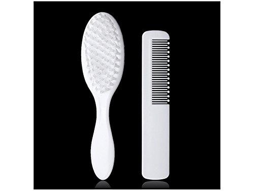 GOOTUOUOU Professionell 2 Stück Baby Kinder Haarbürste Kamm weiche komfortable Pflege Werkzeug (weiß)