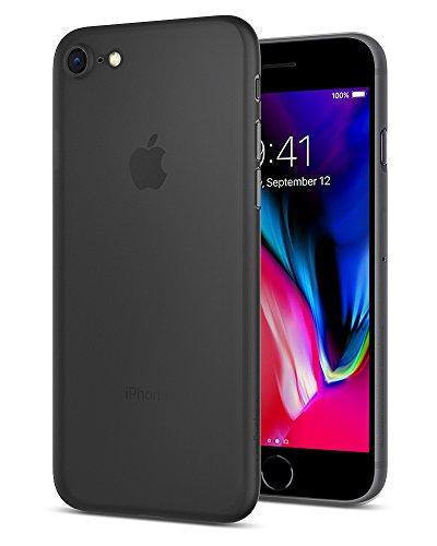 Spigen cover iphone 7, cover custodia morbida e sottile solamente 0.3mm [air skin], nero