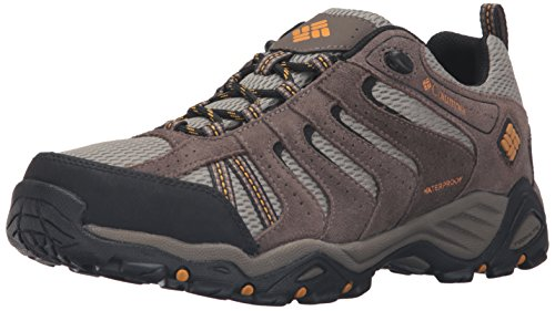 Columbia Mens North Plains II Waterproof Hiking Shoes Verdant/Golden Yellow