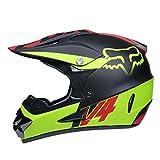 WZFC Crosshelm Motocross Enduro Downhill Fox Helm Motorradhelm Integralhelm,FOX8,M