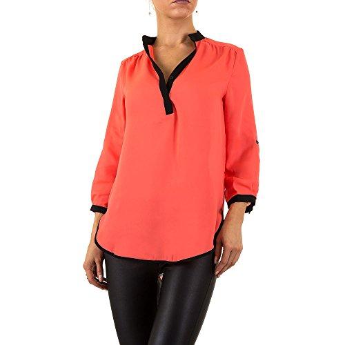 Chiffon Bluse Für Damen , Coral In Gr. 38 bei Ital-Design