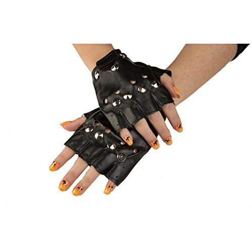Country Club Kostüm - viving Kostüme viving costumes204664 Bikers Handschuhe (One Size)