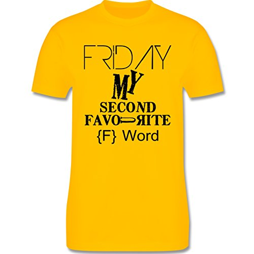 Statement Shirts - Friday - my second favourite F Word - Herren Premium T-Shirt Gelb