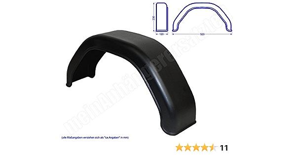Kunststoff Kotflügel Schutzblech 120x520mm Für 4 80 8 4 00 8 Anhängerreifen Auto