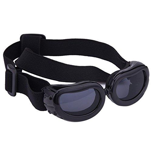 Awhao Gafas de sol para perros Gafas de protección solar Gafas a prueba de agua Para los perros pequeños&Negro