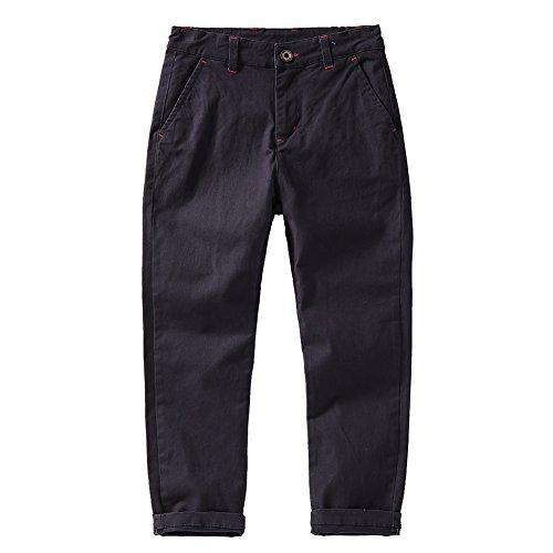 KID1234 Jungen Hosen mit Verstellbarer Taille - Chino Hosen für Jungen 4-12 Jahre, 6 Farben zur Auswahl