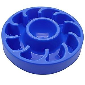 TopEUR animaux de compagnie suspendus cage Gamelles amovible en acier inoxydable nourriture eau bols bleu pour chiens chats petits animaux Alimentateur