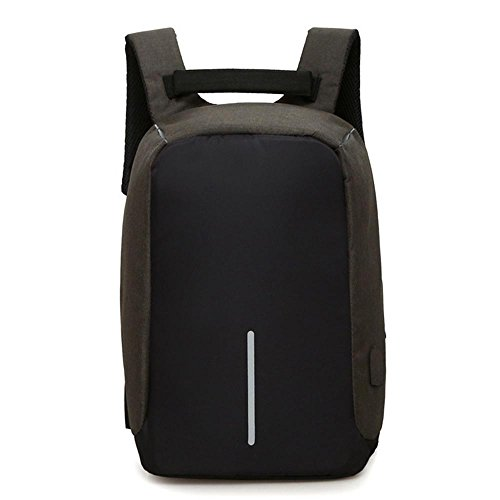 Anti - Furto di spalla casuale uomini borsa e zaino Outdoor Sports Women semplice multi - funzione di carica borsa da viaggio Camera Bag , light gray Black
