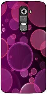 Snoogg Bubbles Design 2382 Designer Protective Back Case Cover For LG G2