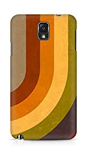 Amez designer printed 3d premium high quality back case cover for Samsung Galaxy Note 3 (Abstract Retro Stripes)
