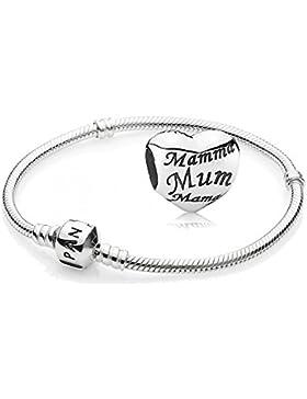 Original PANDORA Starterset / Geschenkset 925er Sterling Silber - 1 Silber Armband - Größe 23 cm - Art.Nr. 590702HV...
