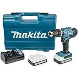 Makita HP457DWE - Taladro Percutor A Bateria 18V Litio-Ion 1.1 Ah