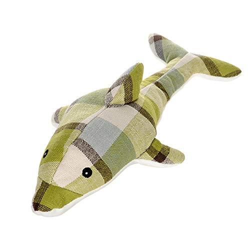 JKRTR Haustier Hund Quietschendes Spielzeug Interaktives Plüschtier Dinosaurier Spielzeug (Grün-3,Freie Größe)