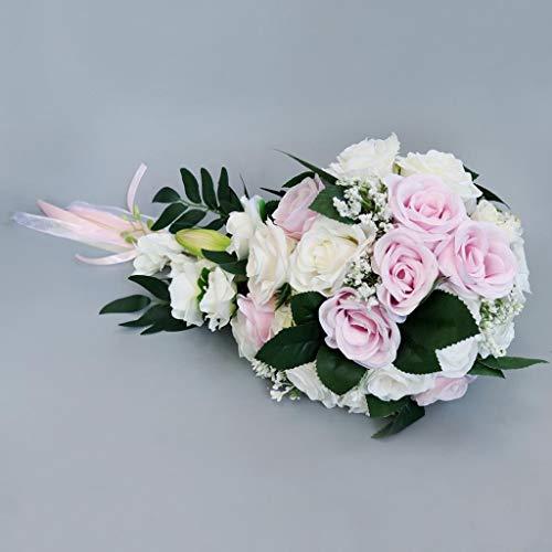 Realistische Hochzeit Braut Bouquet Hand gebunden Blumendekoration Holiday Party Supplies europäischen Chaiselongue Rosen Hochzeit Blumen...
