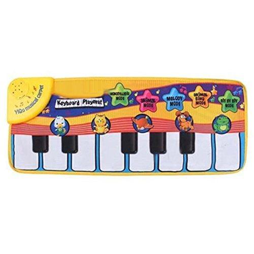 longyitrade Baby Kinder Bildung Touch Play Animal Piano Tastatur Musik Teppich Matte Decke (Piano-tür-matte)