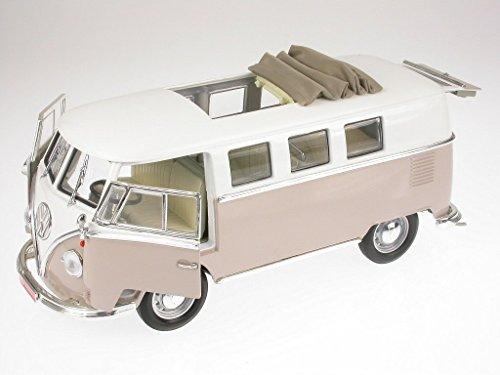 VW T1 Bus Bulli Samba Van beige Modellauto Yatming 1:18