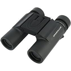 Paralux Amazone II - Mini prismáticos (zoom de 10x, objetivos de 26 mm), color negro