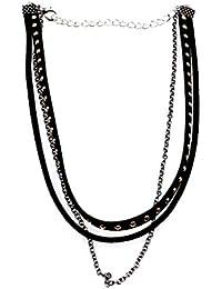 0721e812d326 Desconocido Joyería Collar Gargantilla de Remache Punk Gótica Múltiples ...