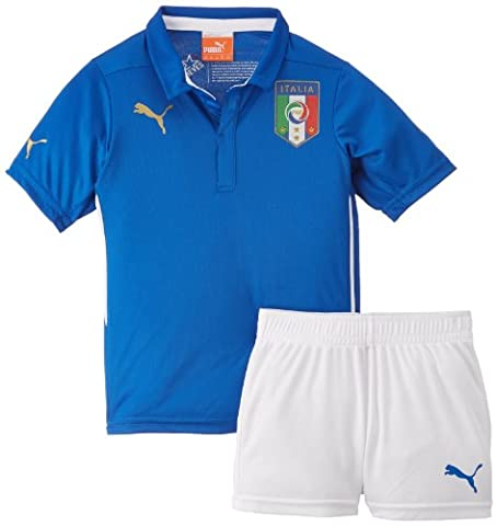 Puma Children's Jersey Italian Football Federation Home Mini Kit blue Team Power Blue Size:5 years