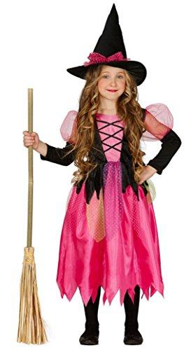 Pinke Hexe Hexenkostüm für Mädchen Gr. 110-146, Größe:110/116 (Zauberin Mädchen Kostüm)