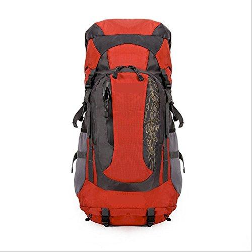 Xiuxiandianju 56-75L Reisen Outdoor-Rucksack wandern outdoor Rucksack große Tasche Red