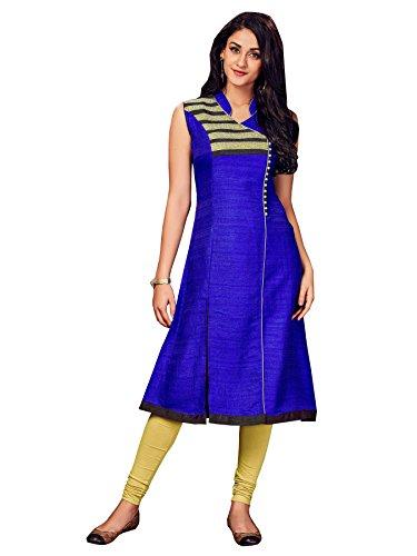 Royal blue silk fashionable kurti (Medium)