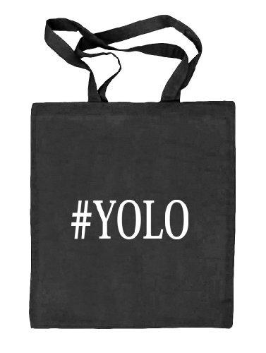 Shirtstreet24, YOLO 2, Stoffbeutel Jute Tasche (ONE SIZE) schwarz natur