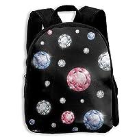 ADGBag Children Boys Girls Diamond Pattern Backpack Shoulder Bag Book Scholl Travel Backpack