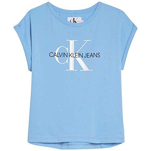 Calvin Klein Jeans Mädchen Top Monogram Loose FIT Tee weiß 16 (170-176) - Calvin Klein-loose-fit-jeans
