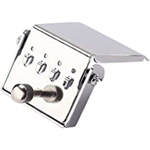 Healifty 4 Saitenhalter Stegplatte für Banjo Ersatzteile Gitarre DIY zu verbesserten Ton (Silber)