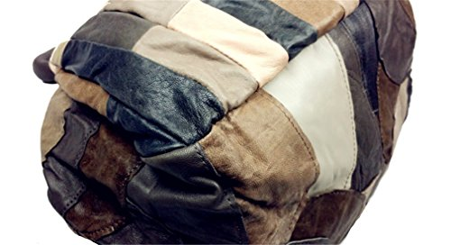 Santwo parte superiore in vera pelle, stile Vintage, Colorblock-borsetta, borsa a tracolla, borsa a spalla con cinghia regolabile Grigio (grigio)