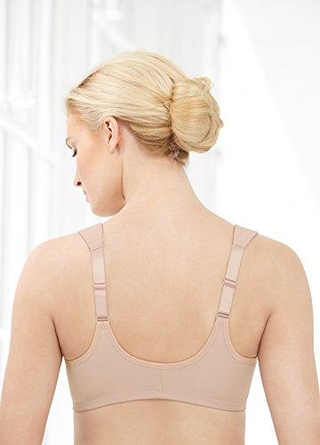 Glamorise Damen Bügel-Bh mit Vorderverschluss Beige (Kaffee 211)
