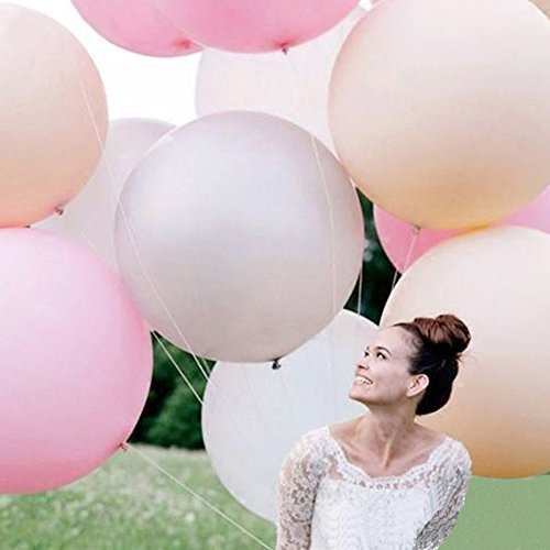 Doitsa 4 Stücke Luftballon 36 Zoll Extra groß Weihnachten Ballons für Weihnachtsdekoration, Geburtstag, Hochzeit (Weiß)