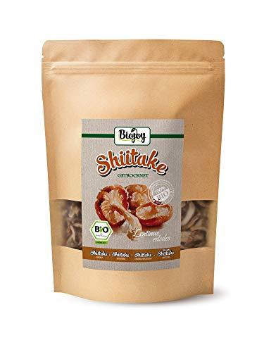 Preisvergleich Produktbild BIO-Shiitake Pilze getrocknet / getrocknete Shii-take in BIO-Qualität / naturbelassene & unbestrahlte Trockenpilze / lentinus edodes (100 gr)