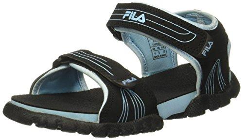 6faf8280c Fila Women s Fron Black and Blue Fashion Sandals - 4 UK India (38 EU ...