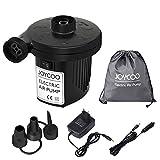 Joycoo Elektrische Luftpumpe Luftmatratze Pumpe für Airbed Camping,Inflator Deflator für, Pools, Boote,Floß,AC 230V DC 12V Auto