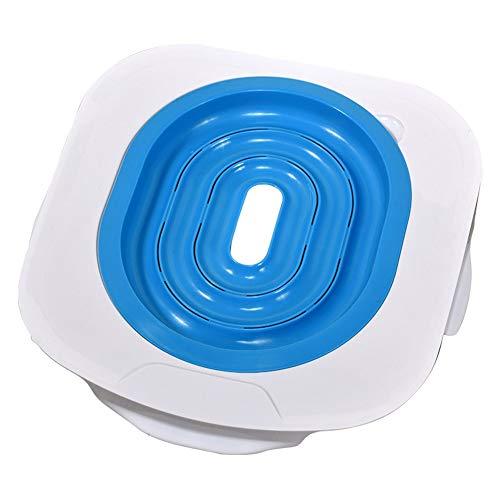 PanDaDa Katzen toiletten Trainings System Kitty Toiletten Trainer PVC Weiß Praktischer, verschwindender Katzentoilettentrainer -